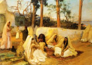 Women at the Cemetery - Oil Painting Reproduction On Canvas
