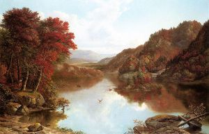 Autumn Landscape - William Mason Brown Oil Painting