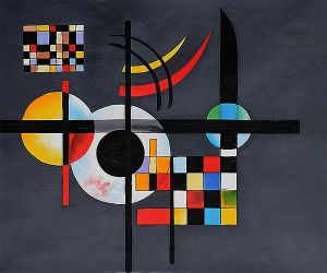 Gravitation - Wassily Kandinsky Oil Painting