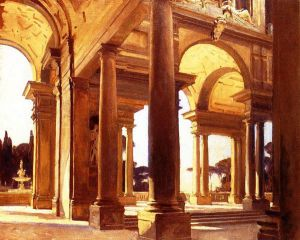 A Study of Architecture, Florence - John Singer Sargent Oil Painting