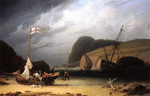 Great Ormes Head, Near Liverpool - Robert Salmon Oil Painting