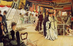 The Ball on Shipboard - James Tissot oil painting