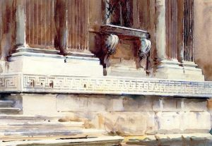 Base of a Palace II - John Singer Sargent Oil Painting