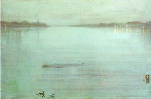 Nocturne: Blue and Silver-Cremorne Lights - James Abbott McNeill Whistler Oil Painting