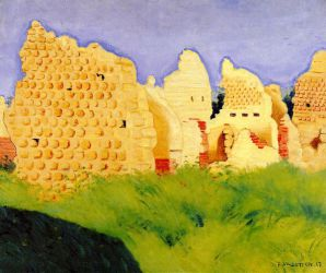 Ruins at Souain, Sunset - Felix Vallotton Oil Painting