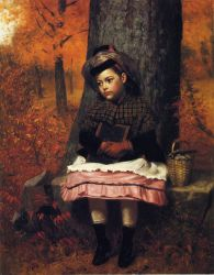 School Bound - John George Brown Oil Painting