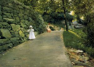 In the Park-a By-Path - William Merritt Chase Oil Painting