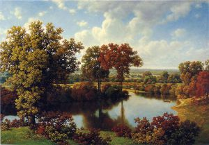 Autumn Reflections II - William Mason Brown Oil Painting