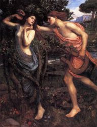 Apollo and Daphne - John William Waterhouse Oil Painting