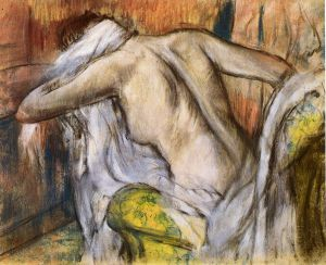 After the Bath, Woman Drying Herself 4 - Edgar Degas Oil Painting