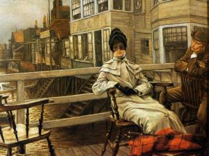 Waiting for the Ferry II - James Tissot oil painting