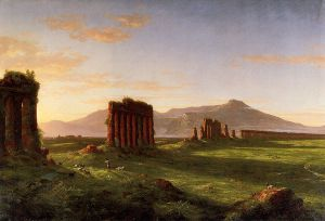 Roman Campagna - Thomas Cole Oil Painting
