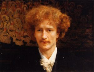 Portrait of Ignacy Jan Paderewski - Sir Lawrence Alma-Tadema Oil Painting
