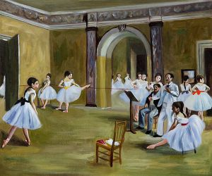 Dance Studio at the Opera - Edgar Degas Oil Painting