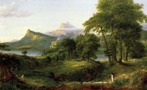 The Course of Empire: The Arcadian or Pastoral State - Thomas Cole Oil Painting