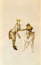 At the Circus: The Animal Trainer - Henri De Toulouse-Lautrec Oil Painting