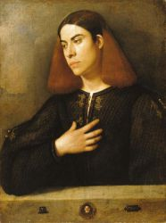 The Budapest Portrait of a Young Man - Giorgio Barbarelli da Castelfranco Oil Painting