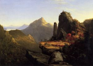 Scene from 'The Last of the Mohicans': Cora Kneeling at the Feet of Tanemund - Thomas Cole Oil Painting