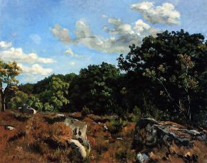 Landscape at Chailly - Jean Frederic Bazille Oil Painting