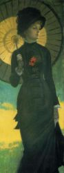 Mrs. Newton with a Parasol - Oil Painting Reproduction On Canvas