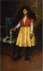 Portrait of Erla Howell - William Merritt Chase Oil Painting Mary Cassatt Oil Painting