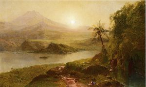 Mountain Landscape - Frederic Edwin Church Oil Painting