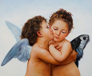 First Kiss - Oil Painting Reproduction On Canvas