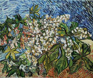 Blossoming Chestnut Branches II - Vincent Van Gogh Oil Painting