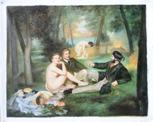The picnic - Oil Painting Reproduction On Canvas
