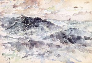 Arrangement in Blue and Silver-The Great Sea - James Abbott McNeill Whistler Oil Painting