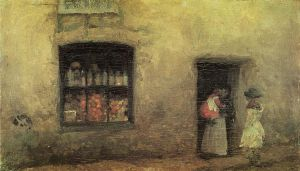 An Orange NOte: Sweet Shop - James Abbott McNeill Whistler Oil Painting