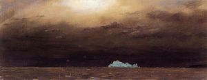 Iceberg, Newfoundland - Frederic Edwin Church Oil Painting