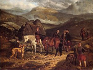 Hunting on the Scottish Highlands - Arthur Fitzwilliam Tait Oil Painting