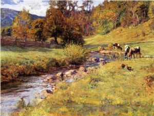 Tennessee Scene - Theodore Clement Steele Oil Painting