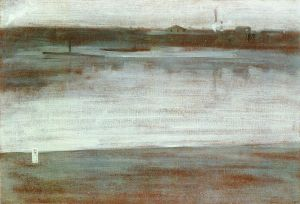 Symphony in Grey: Early Morning, Thames - James Abbott McNeill Whistler Oil Painting