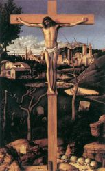 Crucifixion - Giovanni Bellini Oil Painting