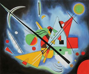 Blue Paintin - Wassily Kandinsky Oil Painting
