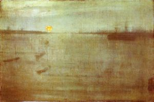 Nocturne: Blue and Gold-Southampton Water - James Abbott McNeill Whistler Oil Painting