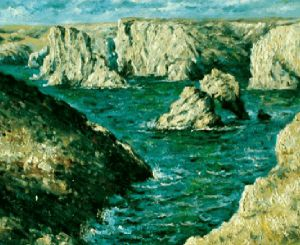The Rocks at Belle-Ile Gallery Wrap - Claude Monet Oil Painting