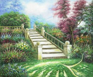 Stairway to Paradise II - Oil Painting Reproduction On Canvas
