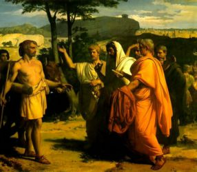 Cincinnatus Receiving Deputies of the Senate - Alexandre Cabanel Oil Painting