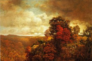 Autumnal Landscape - William Mason Brown Oil Painting