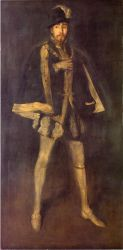 Arrangement in Black, No. 3: Sir Henry Irving as Philip II of Spain - James Abbott McNeill Whistler Oil Painting