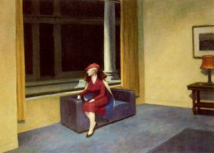 Hotel Window - Edward Hopper Oil Painting