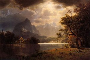 Estes Park, Colorado - Albert Bierstadt Oil Painting
