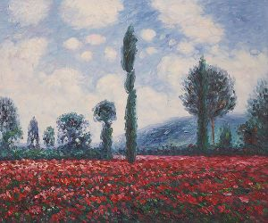 Field of Poppies II - Claude Monet Oil Painting