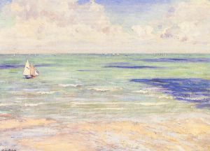 Seascape, Regatta at Villers - Gustave Caillebotte Oil Painting