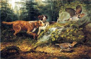 Flushed: Ruffed Grouse Shooting - Arthur Fitzwilliam Tait Oil Painting