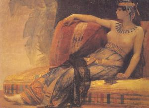 Cleopatra (study) - Alexandre Cabanel Oil Painting