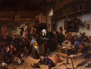 A School for Boys and Girls - Jan Steen oil painting